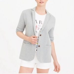 J.crew Gray Open Front Sweater Blazer